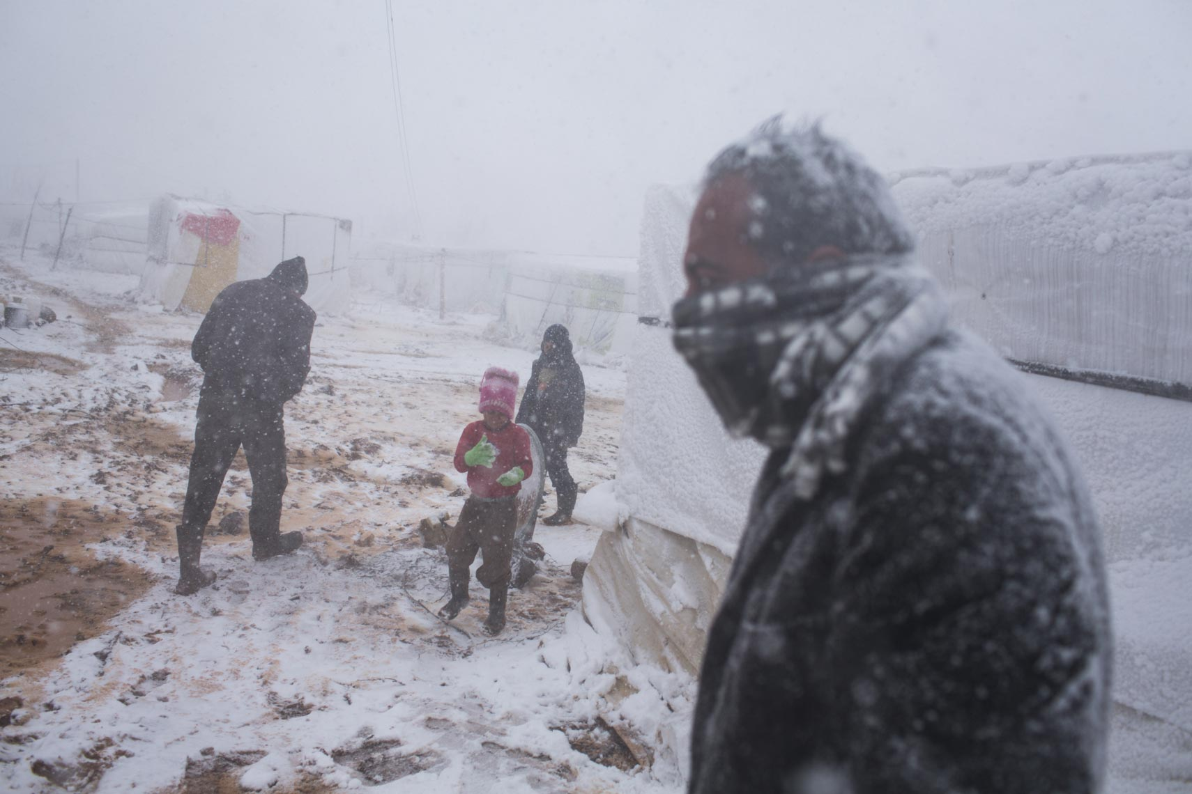 Refugees winter Lebanon